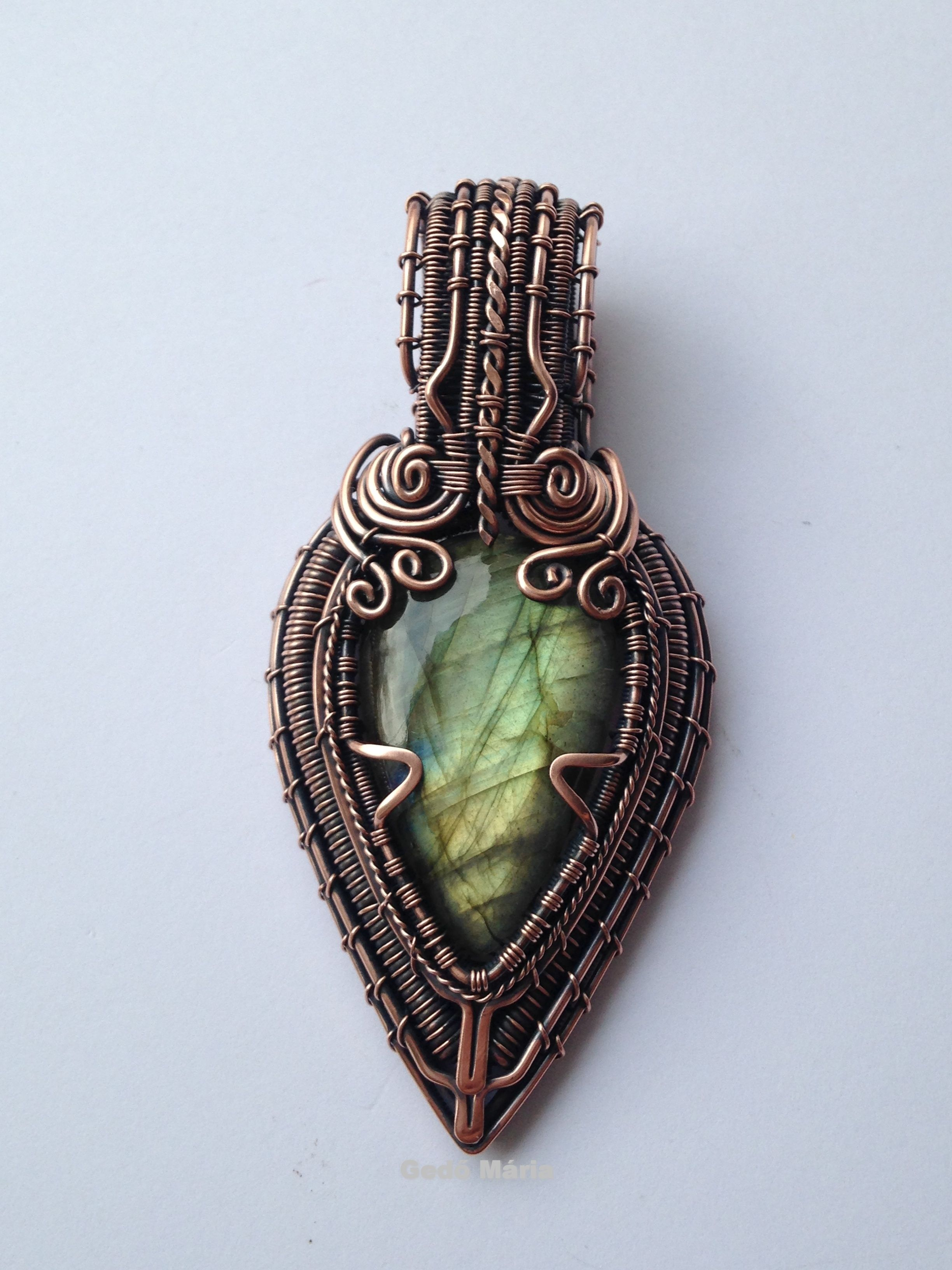 Teardrop labradorite in copper based on Lonely Soldier Designs ...