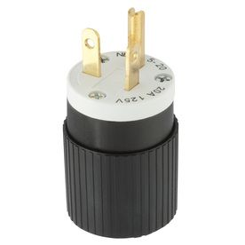 Hubbell 20 Amp 125 Volt Black White 3 Wire Grounding Plug With Images Plugs Wire Brushing Teeth