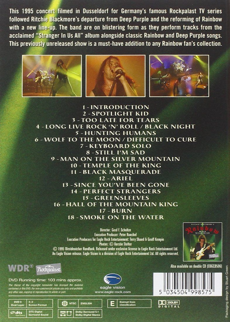 Ritchie Blackmore S Rainbow Dvd Blackmore Ritchie Dvd