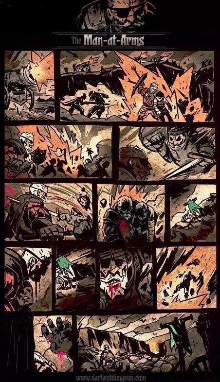 Darkest Dungeon The Man At Arms Dark Fantasy Inspiration