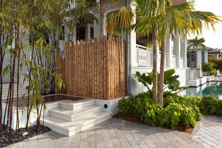 bambus im garten, bambus im garten – diy sichtschutz für die terrasse #bambus #garten, Design ideen