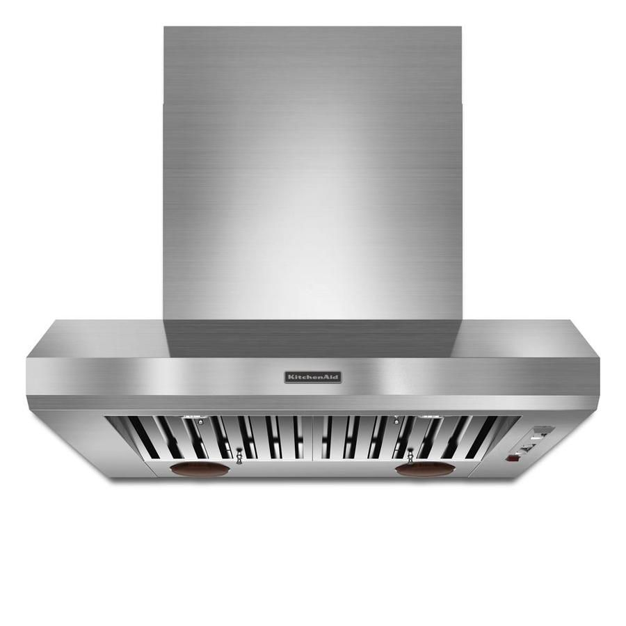 Kitchenaid 36in ducted stainless wallmounted range hood