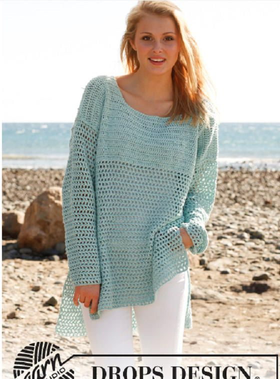 b4395cebc0 Crochet pullover, crochet summer top, womens pullover, boho pullover,  crochet oversized top, crochet beach cover up, crochet lace jumper by ...