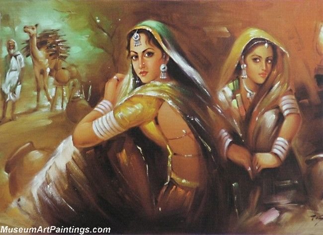 Indian Art Painting Women Rajasthani Painting India Art Indian Paintings