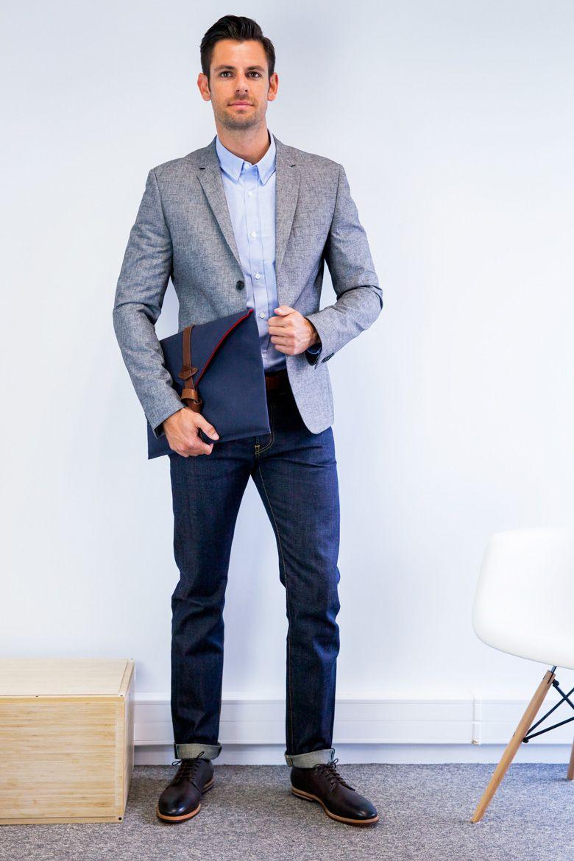 a5de28877fecd blazer gris jean. blazer gris jean Casual Hombre ...