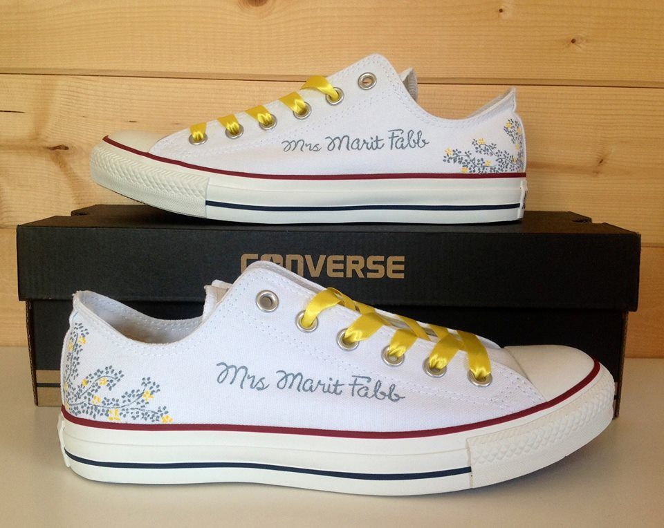 Beauty Cool Wedding Converse Custom Converse for You | Wedding Shoes ...