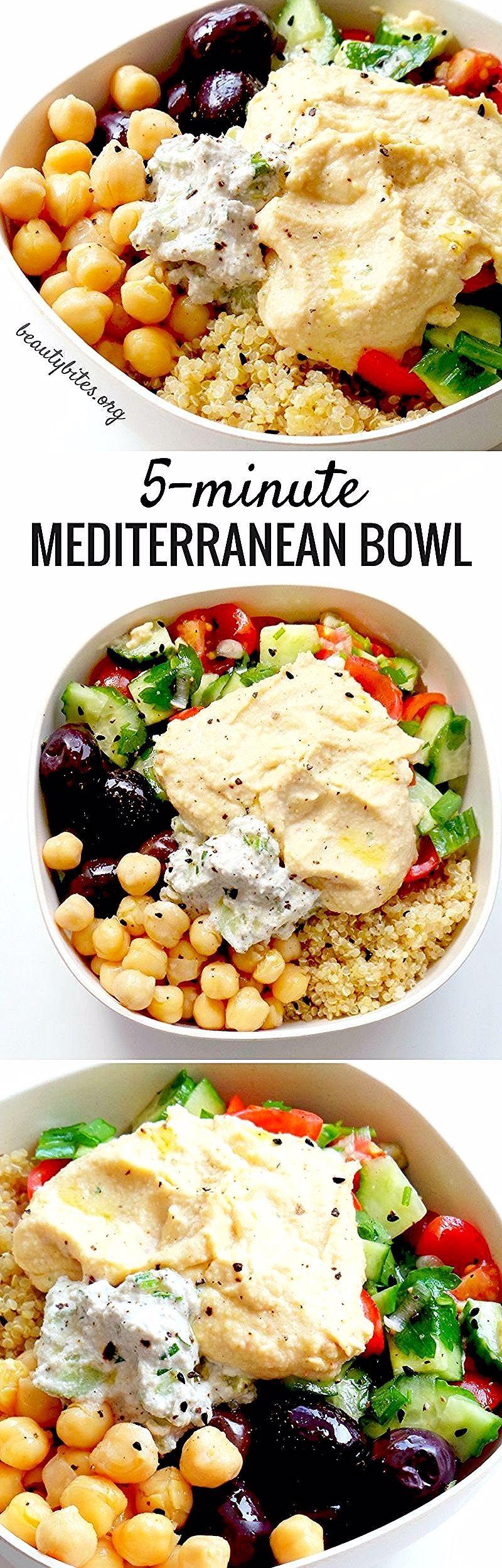 5Minute Mediterranean Bowl  Vegan Meal Prep Recipe