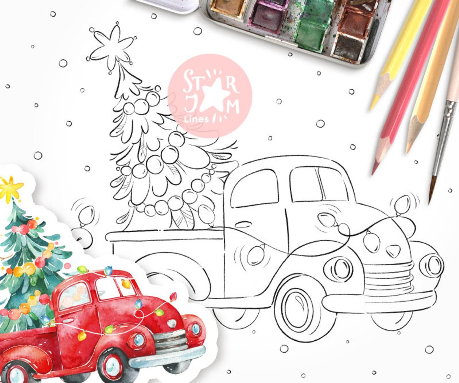 This item is unavailable  Etsy  Christmas tree coloring page