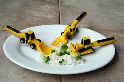 Qual criança não gostaria deste conjunto para terraplanar o prato?