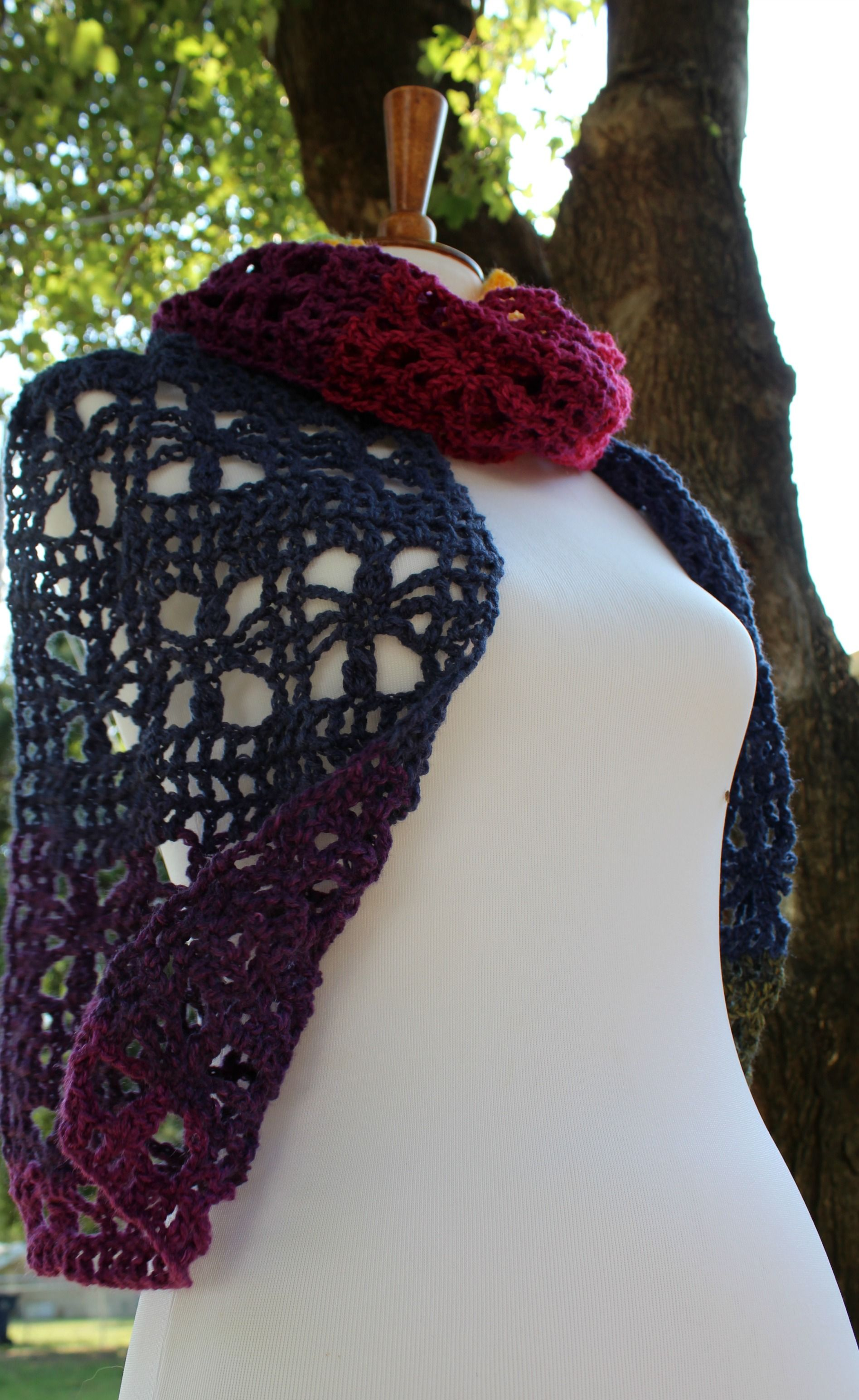 The Webster Mandala Scarf with a FREE Crochet Pattern