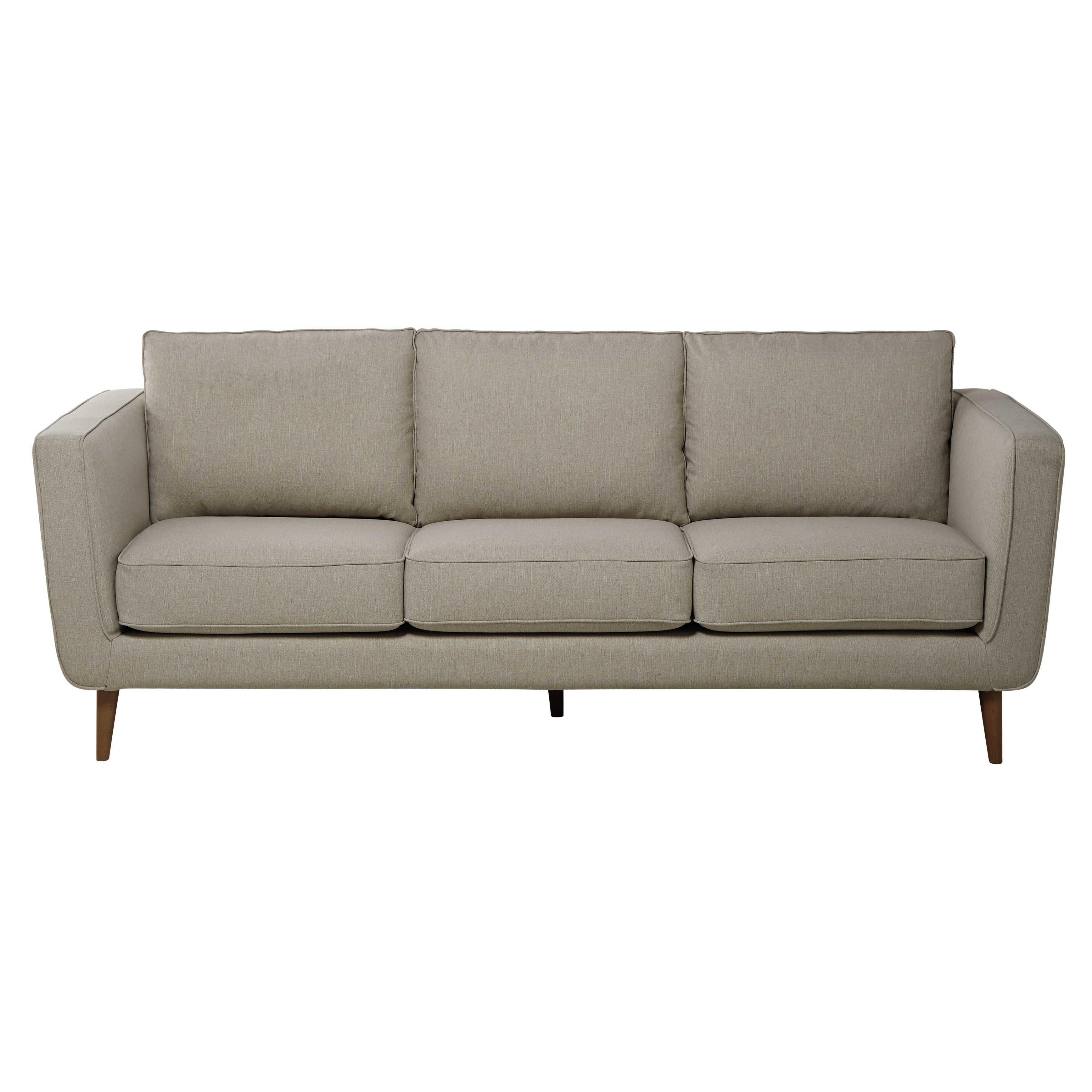 best sof plazas de tela lemans beis mezclilla nils uac maisons du monde with maison du monde le mans. Black Bedroom Furniture Sets. Home Design Ideas