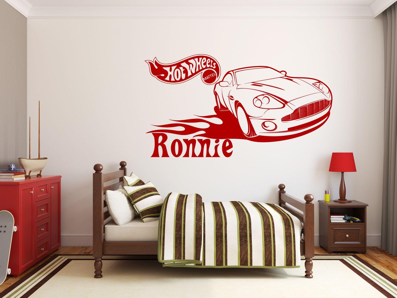 Mattel Hot Wheels Sports Car Design Wall Sticker Decal