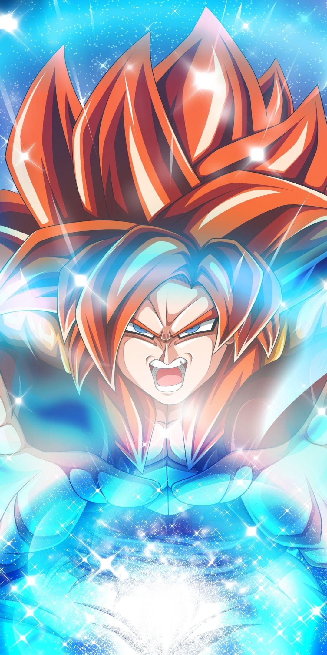 Gogeta, Dragon Ball Heroes, anime, 1080x2160 wallpaper