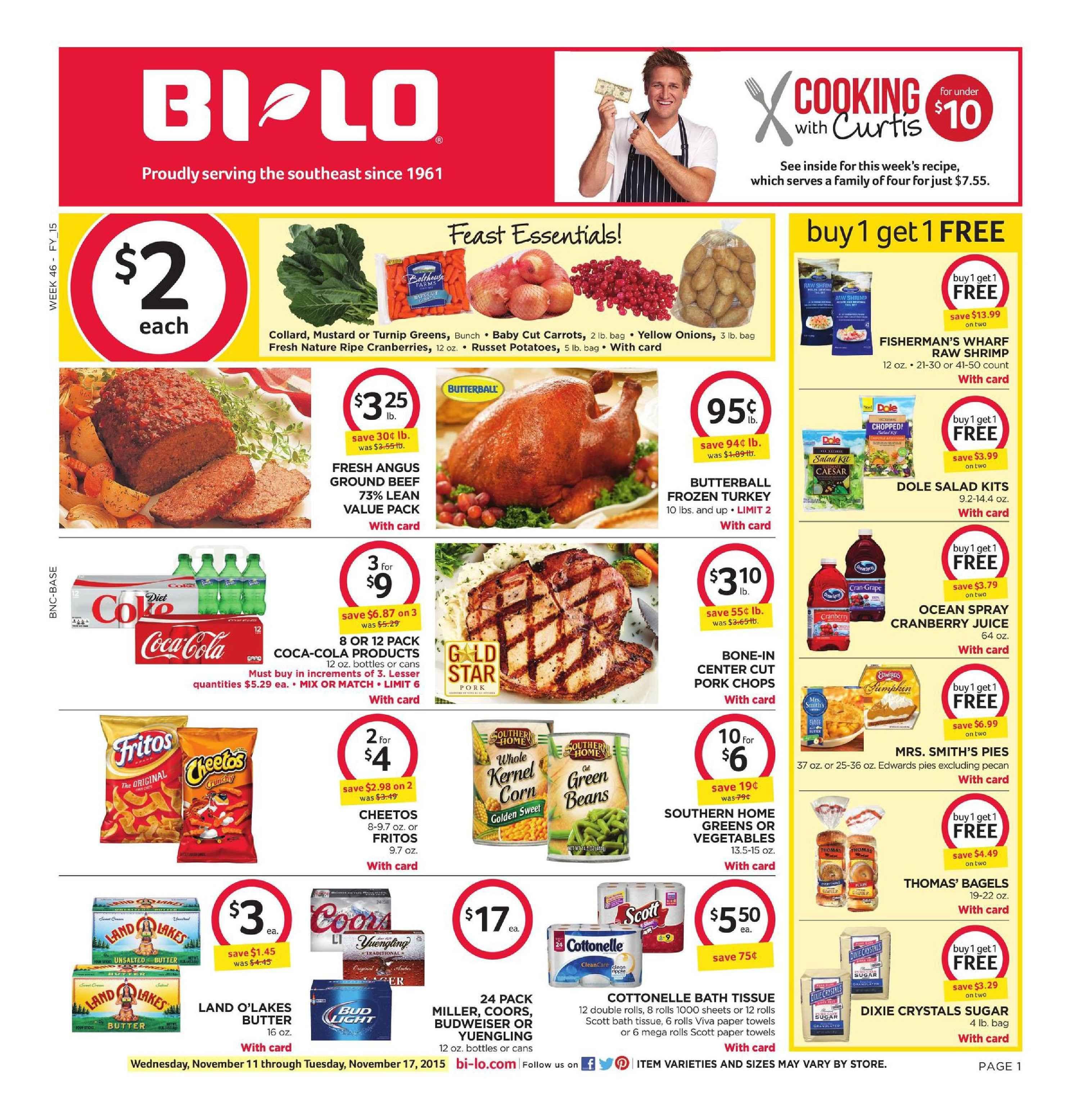 Bilo Weekly Ad November 11 17 2015 httpwwwolcatalogcom
