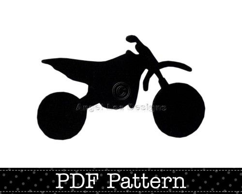 dirt bike applique pattern pdf template motocross motorbike