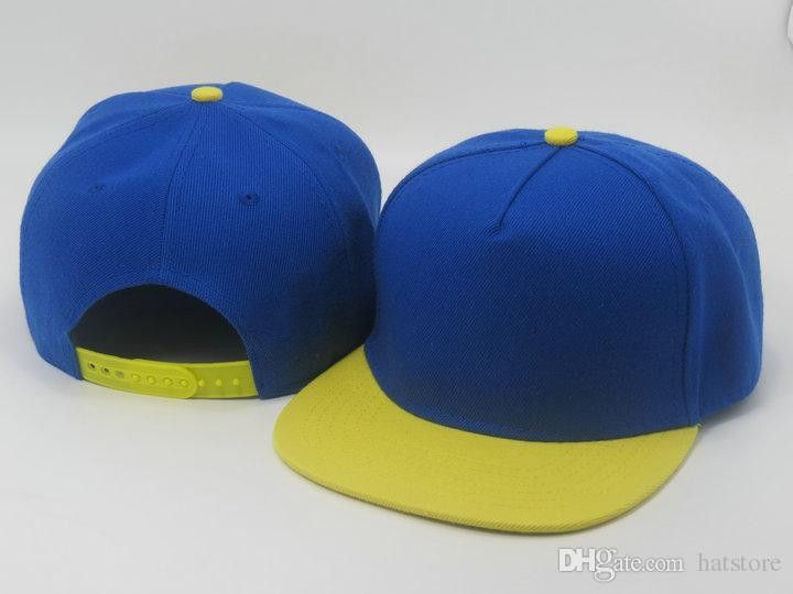 b40c937b High Quality Hot Selling blue yellow men women Plain Blank Snapback hats  Snapbacks Snap Back Leisure Caps Hat Baseball cap LS