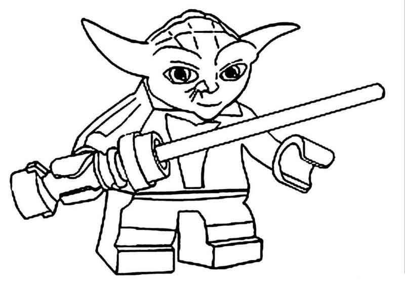 Yoda Lego Star Wars Coloring Pages Di 2020 Dengan Gambar