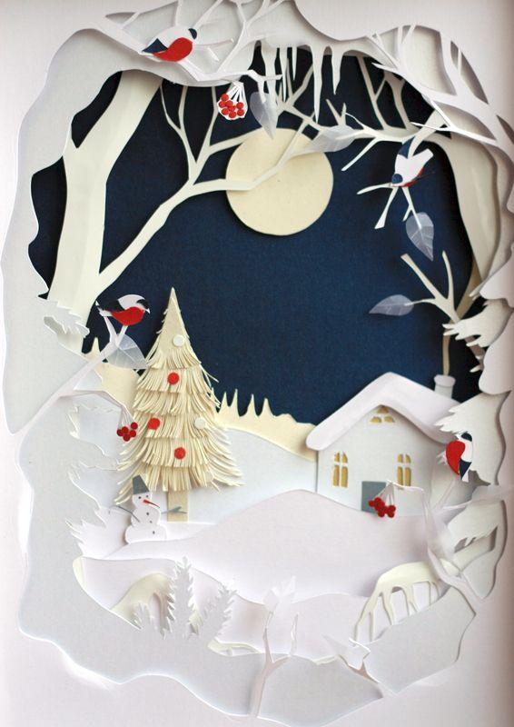 Открытка тоннель рождество