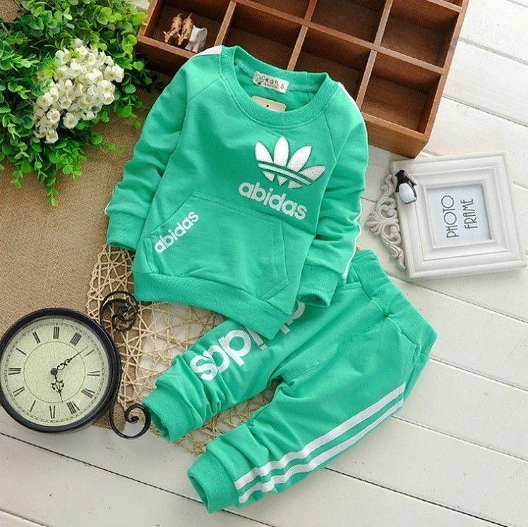 9b28dd24a Hot newborn baby boy girl clothing sets tracksuit suit Long Shirt+ ...