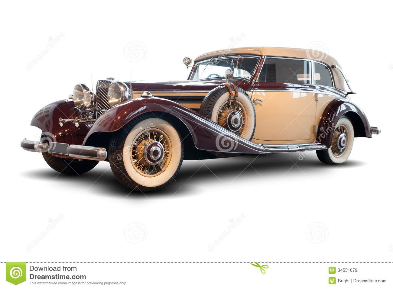 Mercedes 540K model from 1930s. Only a couple of hundred of vehicles ...