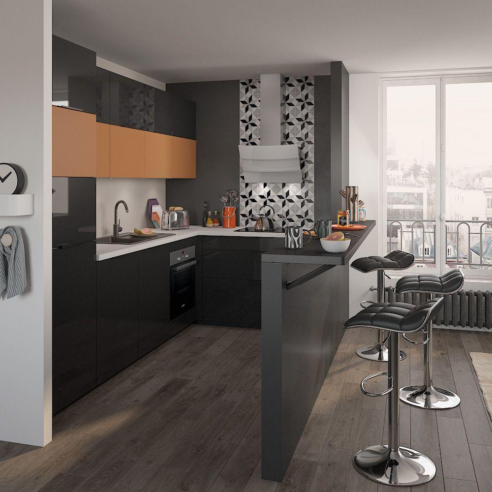 Cuisine Équipée Dans Petit Espace cuisine équipée optimum | cuisine 2 | cuisine petit espace