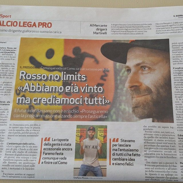 #RenzoRosso Renzo Rosso: FORZA BASSANO
