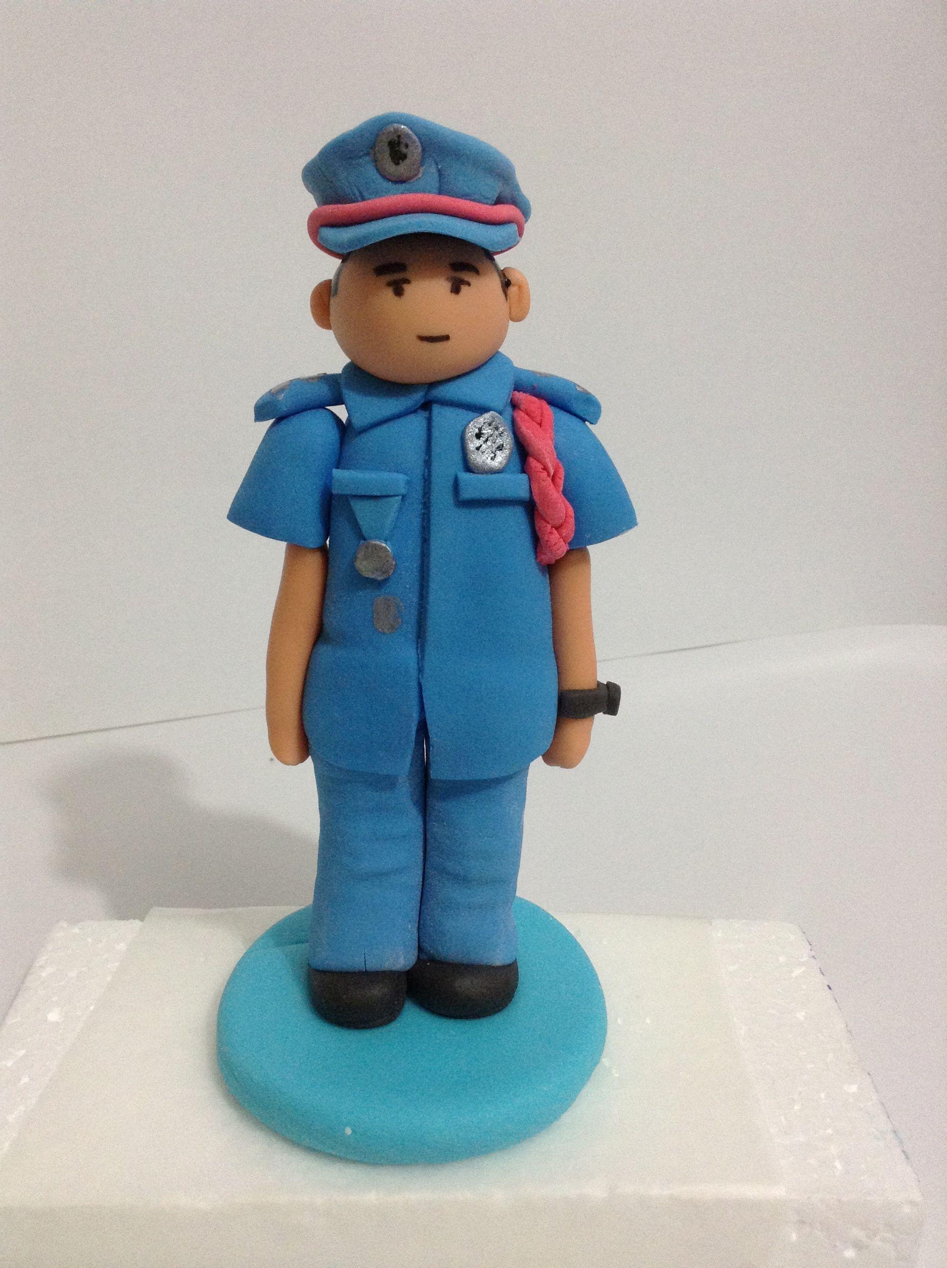Policeman Gumpaste Figurine