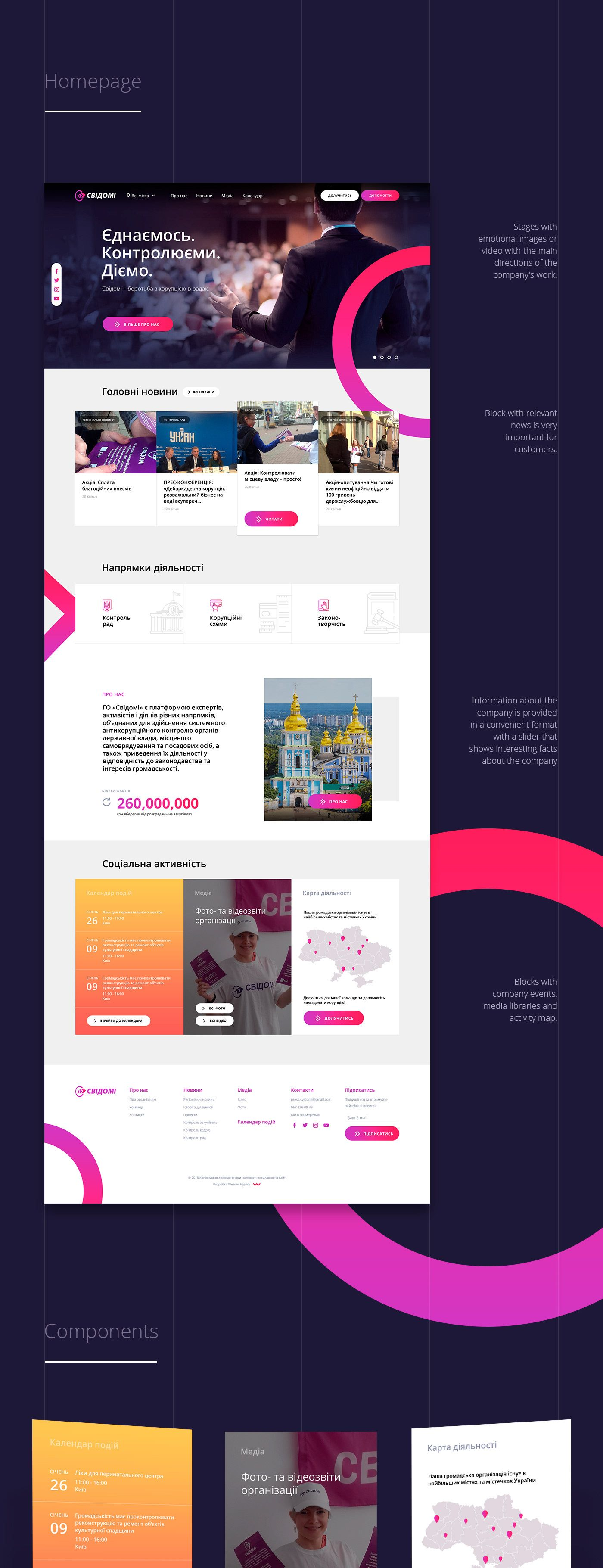 Svidomi Website Redesign On Behance Website Redesign Website Design Wordpress Modern Website Design