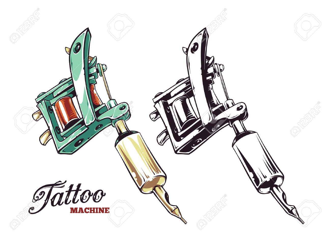 Tattoo-Maschine-Wand-Abziehbild-Aufkleber - andere png herunterladen -  700*370 - Kostenlos transparent Schwarz Und Weiß png Herunterladen.