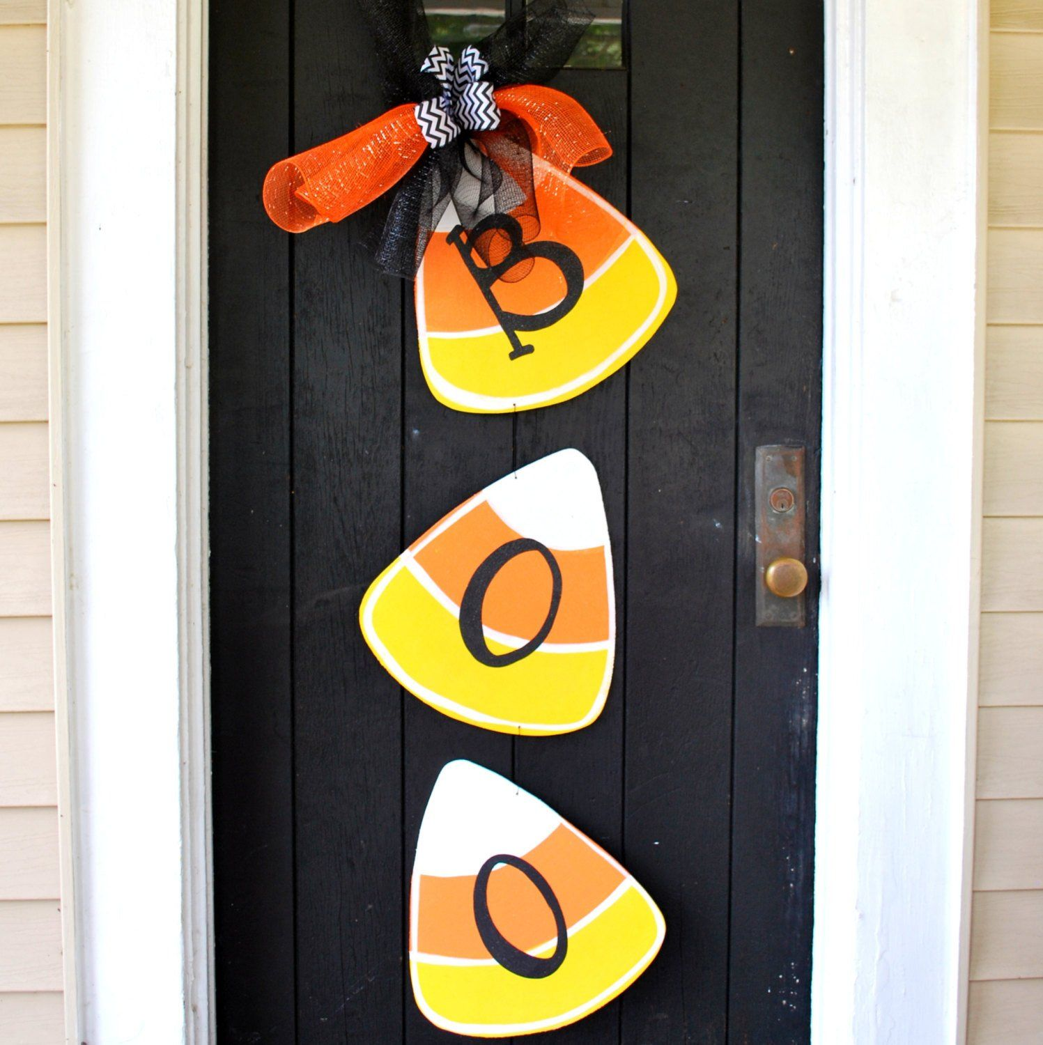 Candy Corn Halloween Decoration Halloween Wreath Candy Corn - Halloween Door Decoration Ideas
