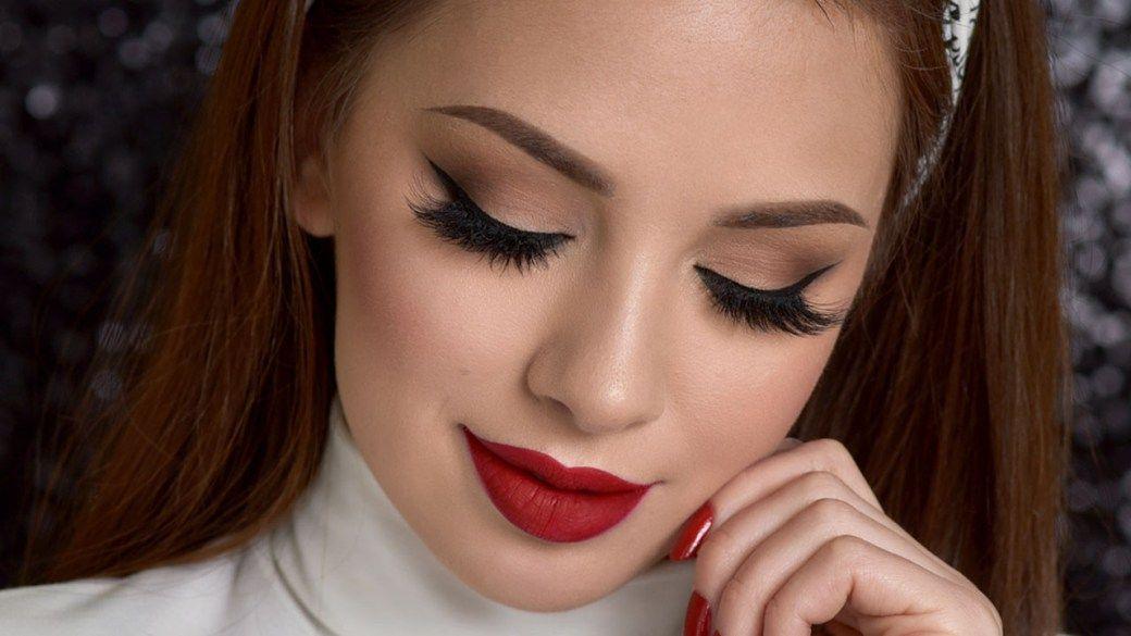 Neutral Smokey Eye & Red Lips Makeup Tutorial – Makeup Project