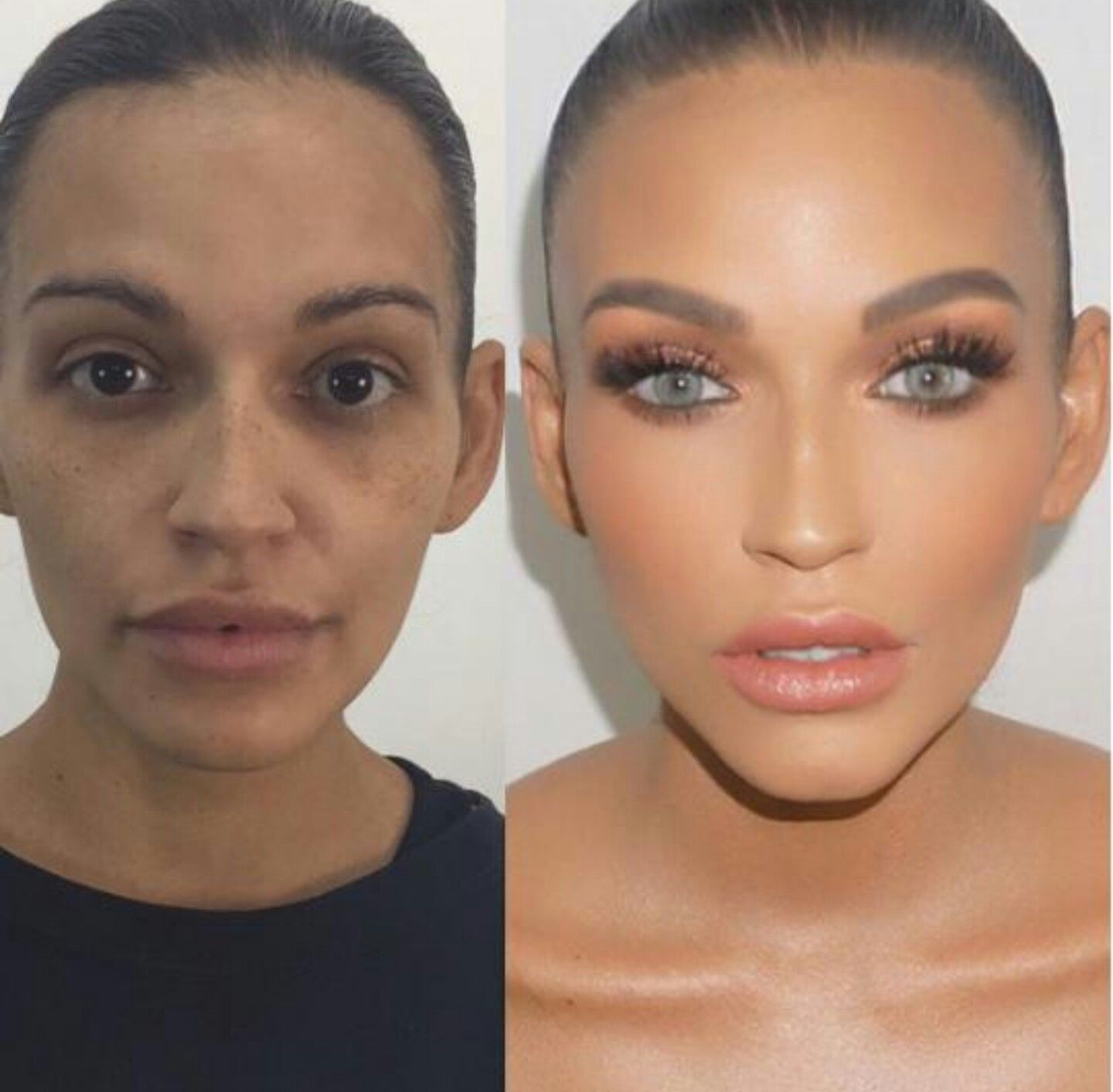Before After Contour Makeup Makeupforblueeyes