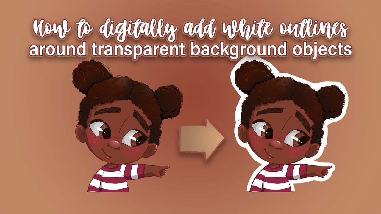 How To Create White Outlines Around Transparent Images To