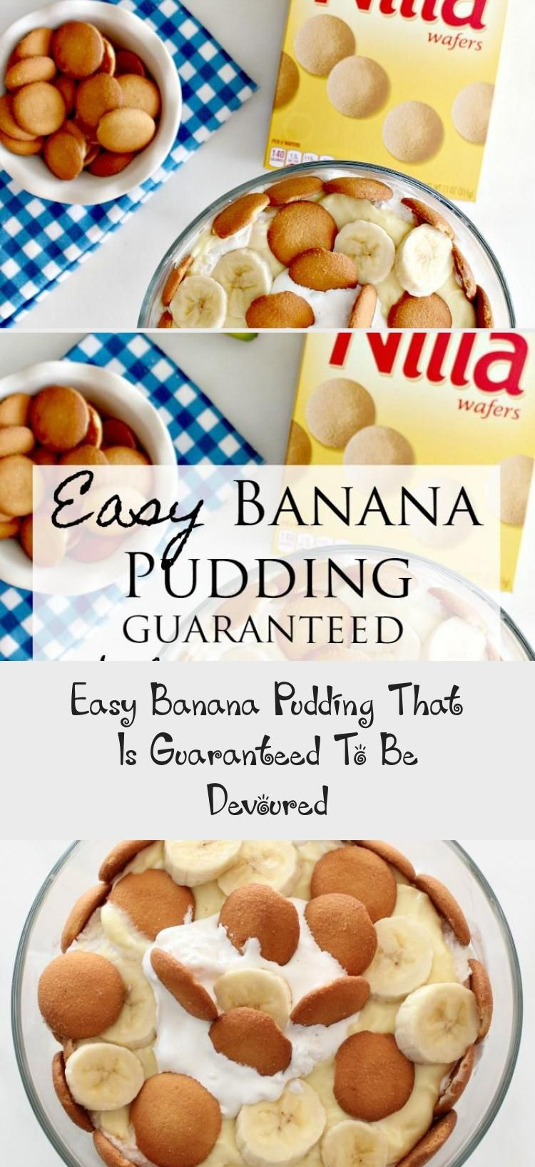 Easy Banana Pudding That Is Guaranteed To Be Devoured - Recipes For Kids #bananapudding