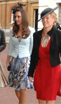 Catherine And Emilia Attending Lady Rose Windsors Wedding