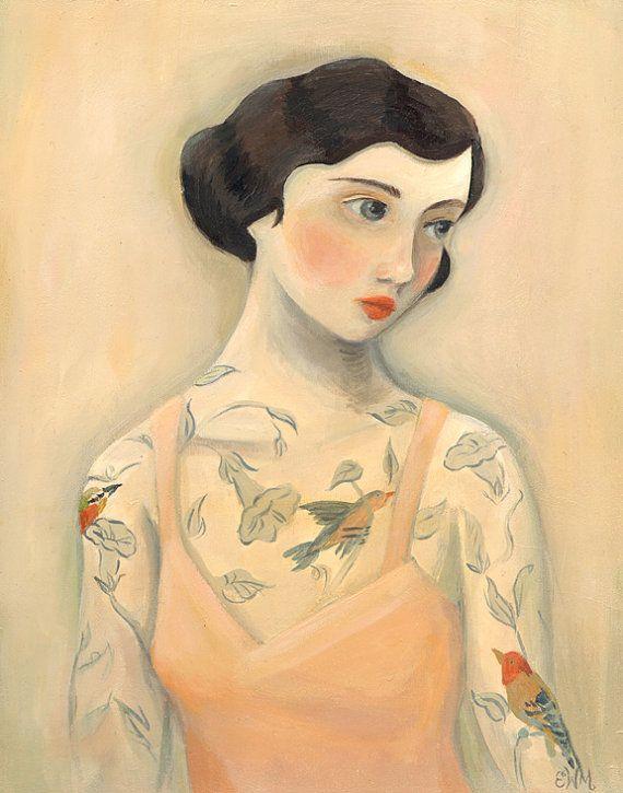 Tätowierte Lady, Rara Avis 8 x 10