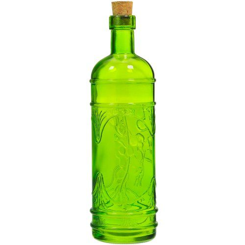 "Decorative Bottles Wholesale Magnificent 9"" Decorative Recycled Glass Lime Green Olive Leaf Bottle 161Oz Design Ideas"