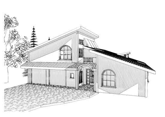 Modern house drawing design images for Architectural drawings of houses