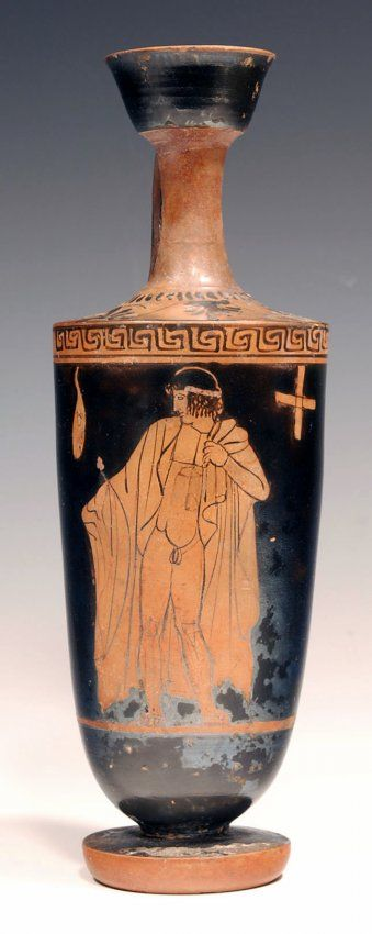 Attic Red Figure Lekythos Mannerist School Jun 13 2013 Artemis Gallery In Co Ancient Greek Pottery Greek Paintings Greek Pottery