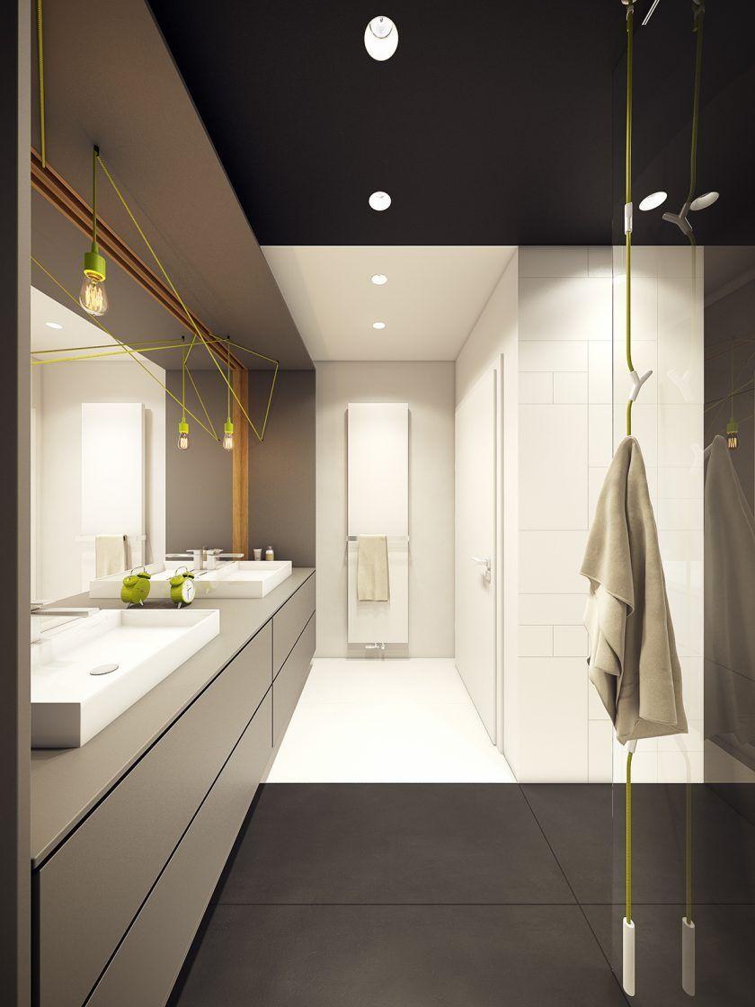 Moderne Zwei Zimmer Wohnung | Toilet, Interiors and Bathroom designs