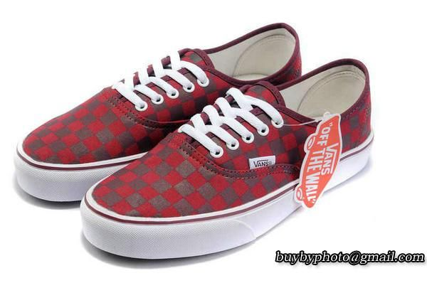 c3d092f119 Vans Authentic Checkerboard AW Robots Red Gray Skate Shoes  Skate   Skateboard  Robots  popular