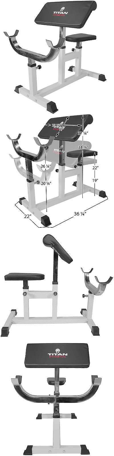 Home Gyms 158923: Titan Preacher Curl Station Seated Strength Training Bench Bicep Home Gym -> BUY IT NOW ONLY: $109 on eBay!