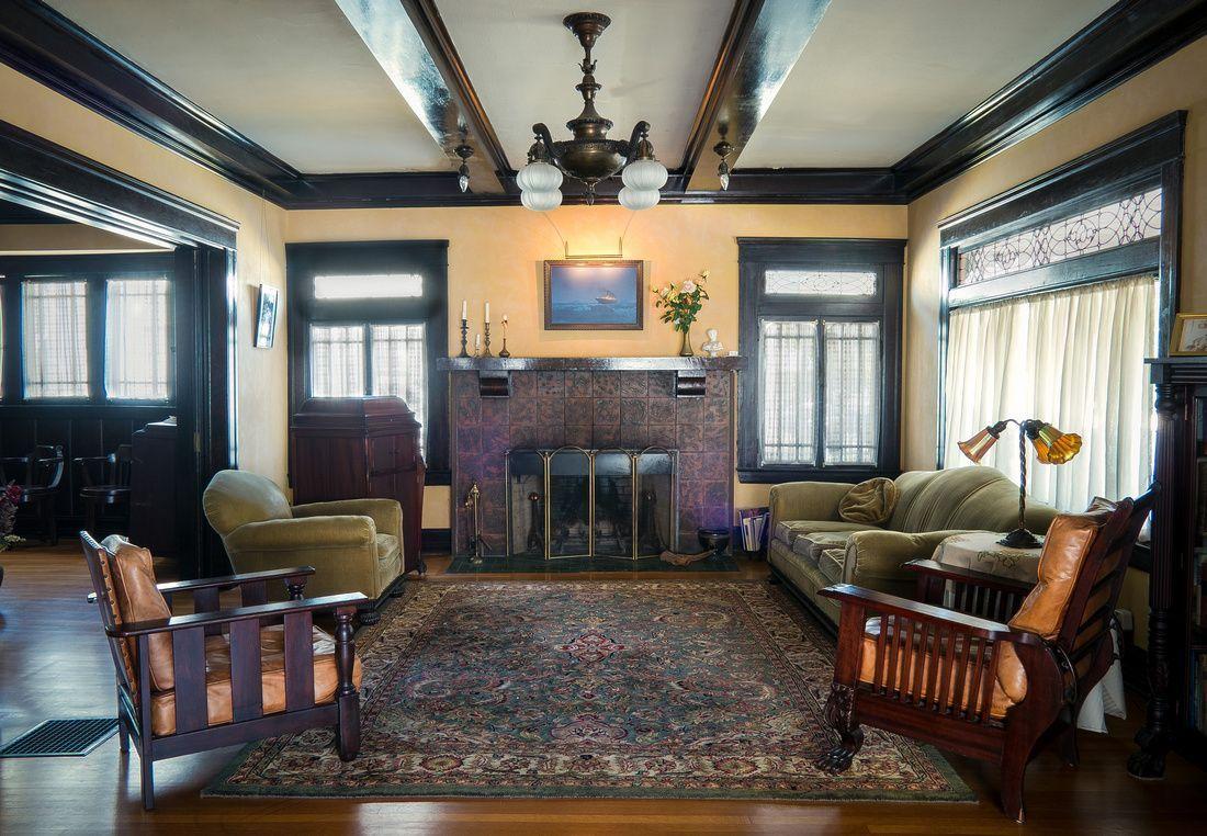 75 Most Popular Craftsman Living Room Design Ideas for ...