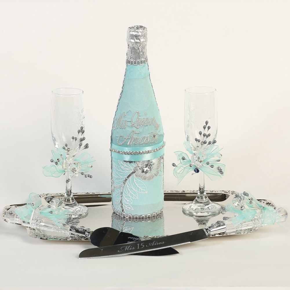 Champagne Bottle Decoration There Is Always The Toast To The Quinceanera Known As The Brindis