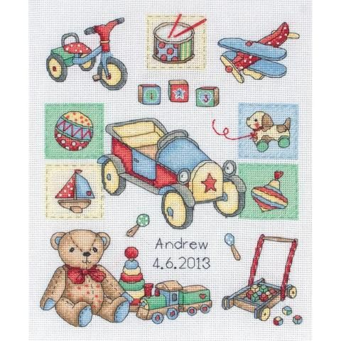 "Boy Birth Record Counted Cross Stitch Kit-9.5""X7.75"" 16 Count"