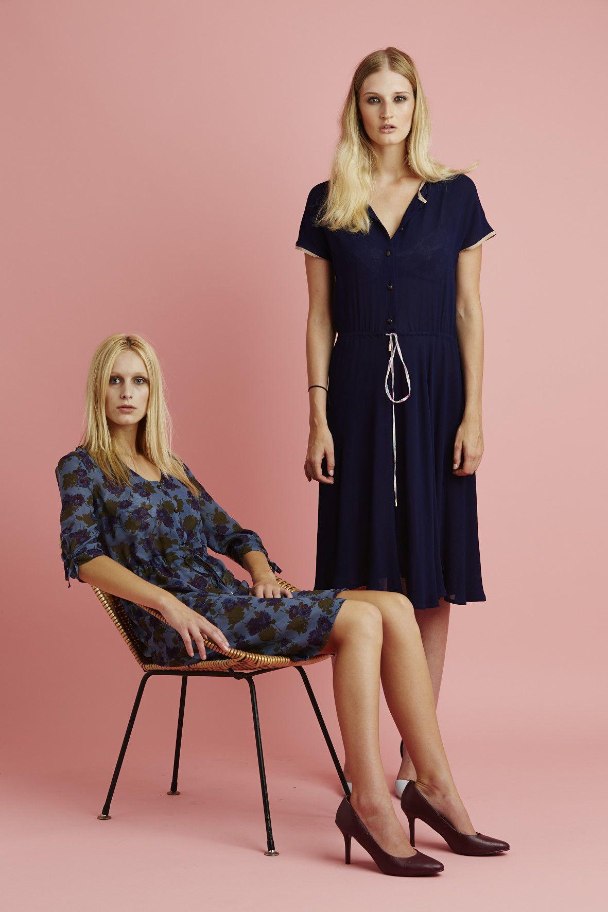 Ingrid Starnes SS15 //  Left: Dream Bloom Dress. Right: Millie Dress