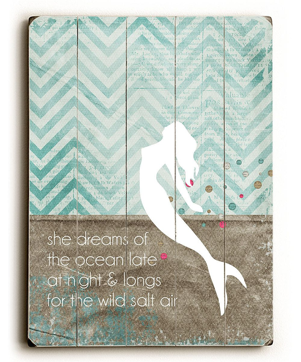 Another great find on zulily ushe dreamsu mermaid wall art by