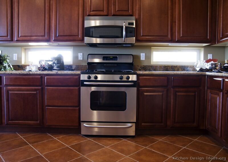 kitchen idea of the day: dark cherry-colored kitchens - gallery