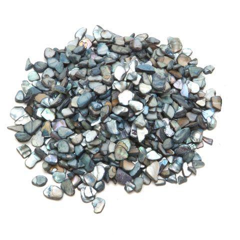 Natural Vase Fillers Small Crushed Shells Variegated Black