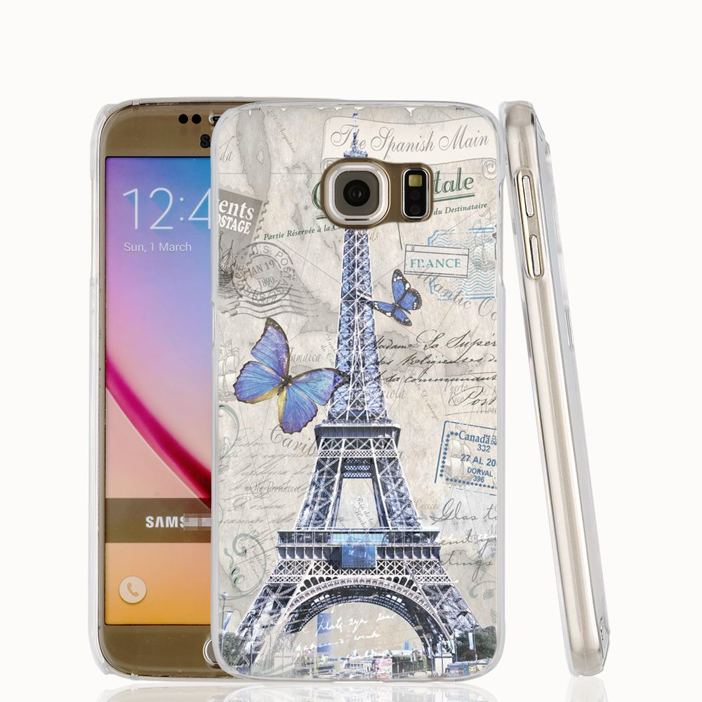 18803 vintage Paris Eiffel Tower cell phone case cover for Samsung ...